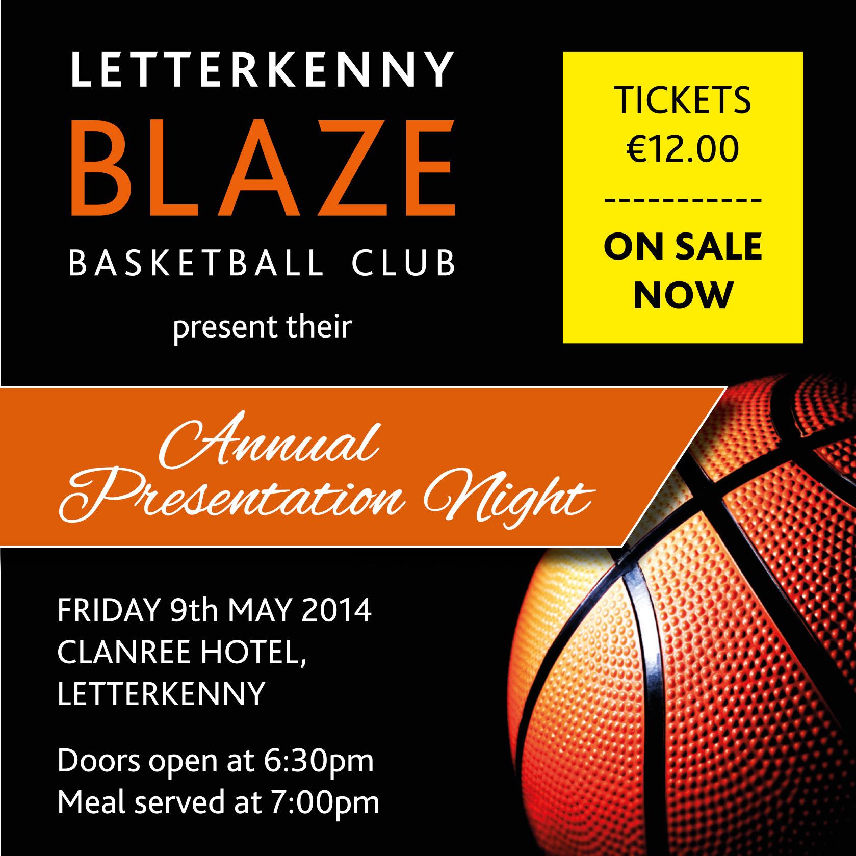 blaze basketball annual presentation night friday 9th may 2014